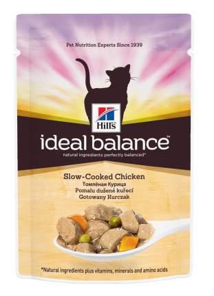 Влажный корм для кошек Hill's Ideal Balance, курица, 85г