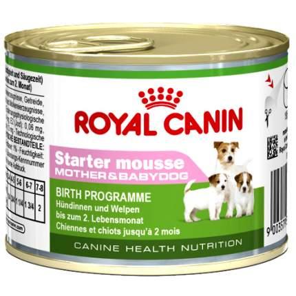 Консервы для щенков ROYAL CANIN Starter Mousse Mother & Babydog, мясо, 195г