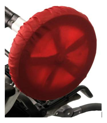 Чехол на колеса детской коляски Чудо-Чадо 4 шт. 18-28 см красный