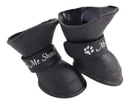 Обувь для собак Triol размер S, 2 шт черный