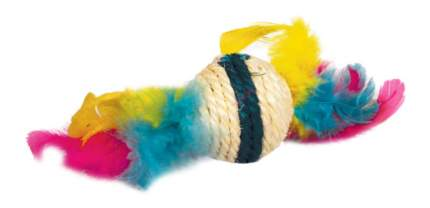 Игрушка для кошек Triol, Сизаль, Перо, 9 см
