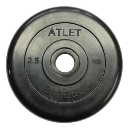 Блин обрезиненный MB Barbell Atlet 2,5 кг сталь MB-AtletB31-2,5 31 мм черный