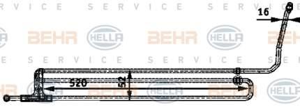 Радиатор АКПП Hella 8MO 376 726-201