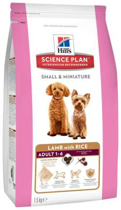 Корм для собак Hill's Science Plan, ягненок, 1шт, 1.5кг