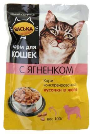Влажный корм для кошек Васька, ягненок, 24шт, 100г
