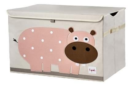 Корзина для хранения игрушек 3 sprouts Розовый гиппопотам