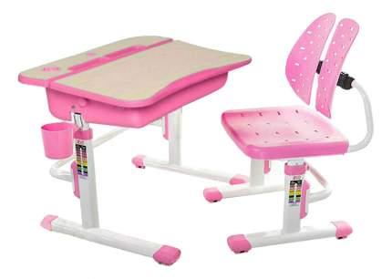 Комплект детской мебели Mealux Парта и стул EVO-03 розовый