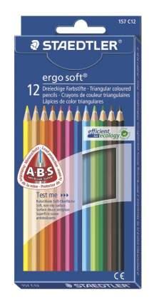 Карандаши цветные Ergosoft трехгранные 12 цв. Staedtler