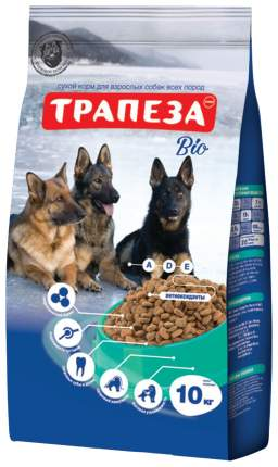 Сухой корм для собак Трапеза Био, все породы, говядина, 10кг