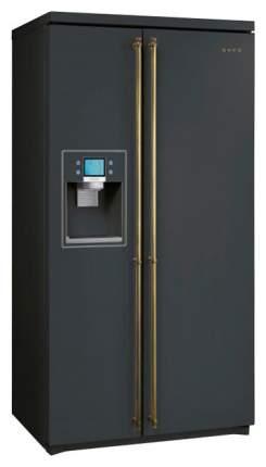 Холодильник Smeg SBS8003AO Black
