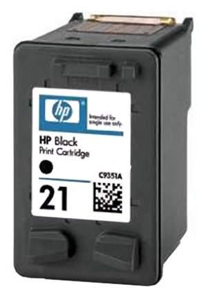 Картридж для струйного принтера HP 21 (C9351AE) черный, оригинал