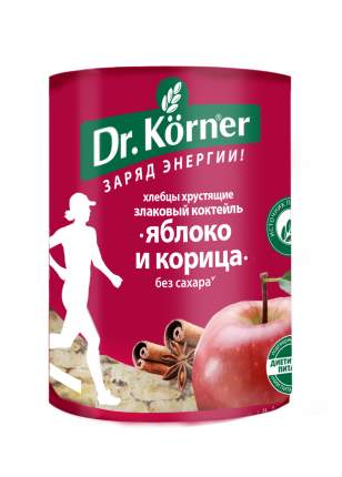 Хлебцы Dr.Korner злаковый коктейль яблочный с корицей 90 г