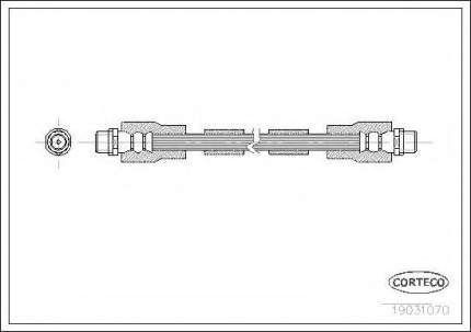 Шланг тормозной системы Corteco 19031070