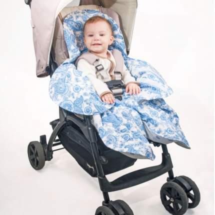Конверт-трансформер для детской коляски Крошкин дом Узоры Цветок ОКк-Ц100 Голубой