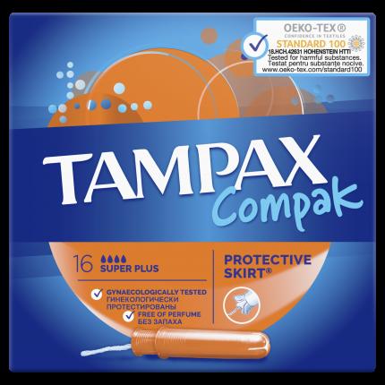Тампоны ТAMPAX Compact Super Plus Duo 16шт