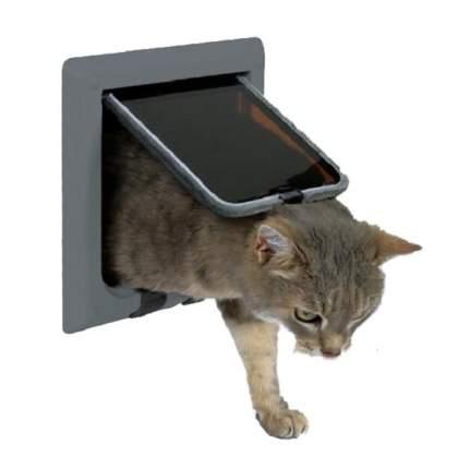 Дверца для кошки и мелких собак TRIXIE 4-Way Cat Flap, серая, 14,7х15,8см
