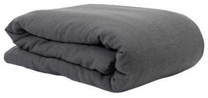 Пододеяльник изо льна темно-серого цвета Essential 150х200
