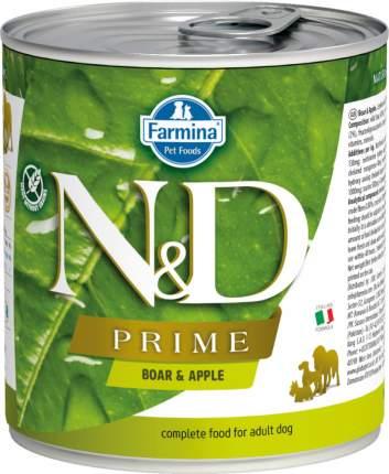 Влажный корм для собак Farmina N&D Prime, кабан и яблоко, 285г