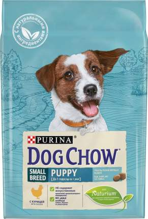 Сухой корм для щенков Dog Chow Puppy Small Breed, для мелких пород, курица, 2,5кг
