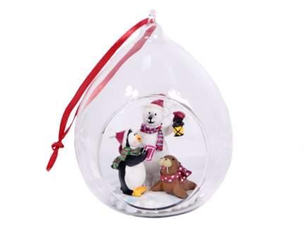 Елочная игрушка Crystal Deco 8х7х11 см 1 шт GO1502