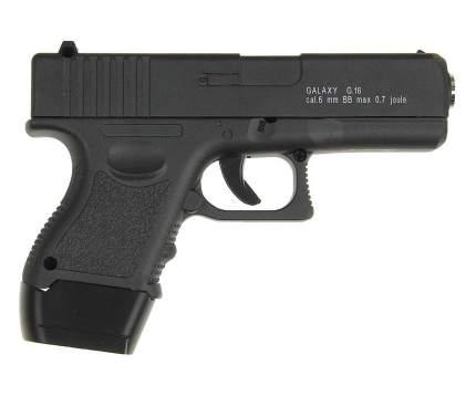 Страйкбольный пружинный пистолет Galaxy  Китай (кал. 6 мм) G.16 (Glock 17 мини)
