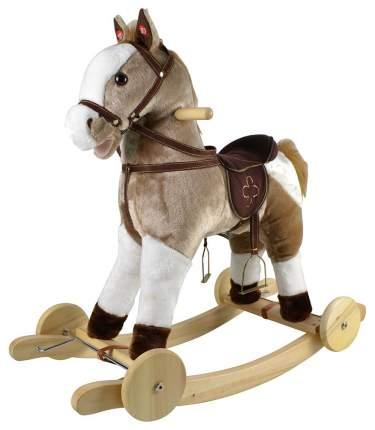"""Качалка-лошадка """"Pituso fandango"""", с колесами, серый с белым"""