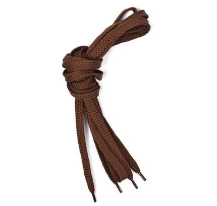 Шнурки для обуви плоские 6мм х 120см коричневые 50 комплектов