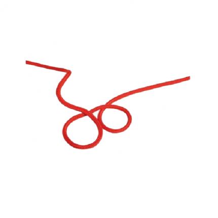 Репшнур Edelweiss Accessory Cord 6 мм, красный, 1 м