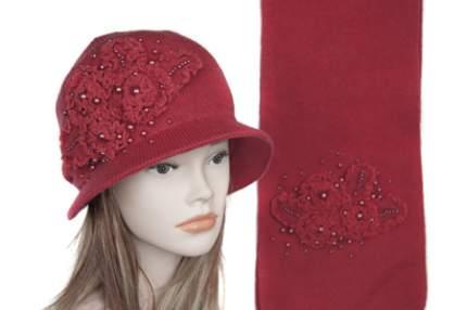 Комплект (шляпа,шарф) Tranini 0163 ART-YM1208K COL-15 красный