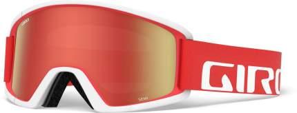 Горнолыжная маска Giro Semi 2020 Red/White Lens Amber Scarlet/Yellow M/L