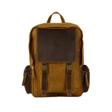 Рюкзак кожаный Bufalo BPN-18small Camel