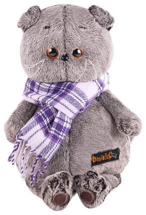 Мягкая игрушка BUDI BASA Басик в фиолетовом шарфе, 25 см