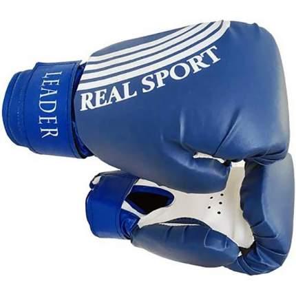 Боксерские перчатки тренировочные Leader синие 12 унций