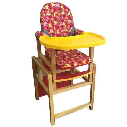 СЕНС-М Стул-стол для кормления КСЕНИЯ Красный пластик