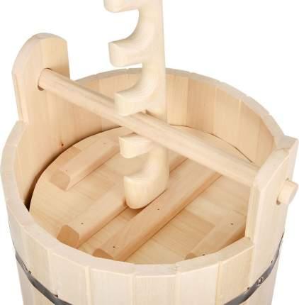 Кадка для воды и заготовки солений Банные штучки с замком и гнётом 15 л