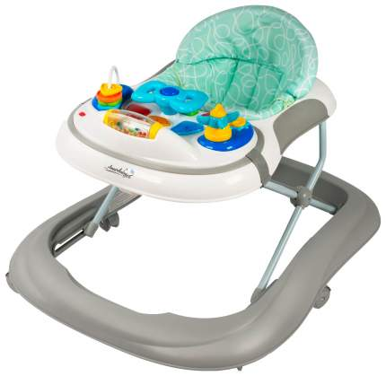 Ходунки детские с электронной игровой панелью AMAROBABY Strolling Baby GRAY (серый)