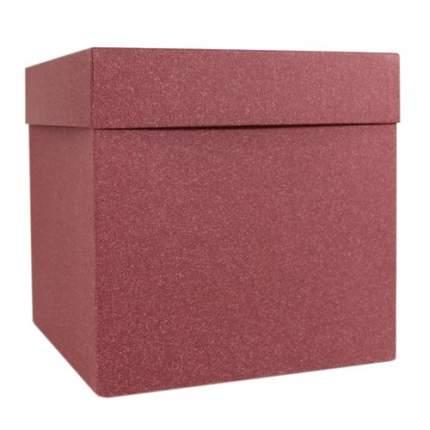 Подарочная коробка, 22,5 х 22,5 х 22,5 см, бордовая