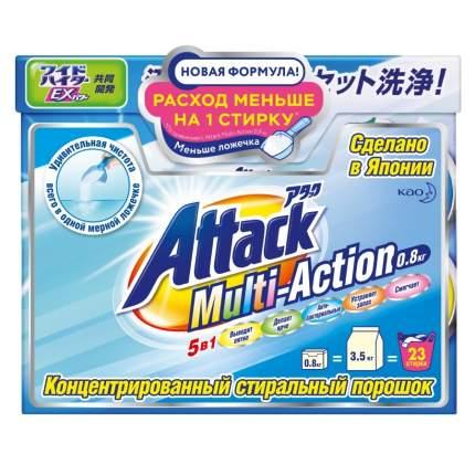 Стиральный порошок антибактериальный Кao Attack Power цветочный аромат коробка 800 г
