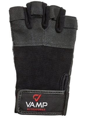 Перчатки для тяжелой атлетики и фитнеса VAMP 530, черные, S