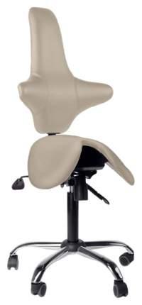 Кресло-седло со спинкой EZSolo Back (цвет обивки: бежевый)