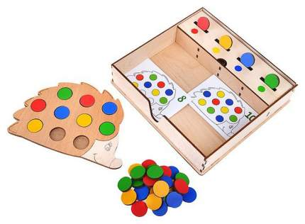 Игра-сортер Raduga kids Повтори за ежиком в деревянной коробке