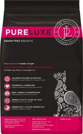 Сухой корм для кошек PureLuxe, беззерновой, для нормализации веса, индейка, лосось, 0,4кг