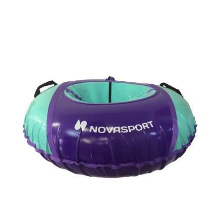 Тюбинг NovaSport 125 см усиленный без камеры СН050.125 фиолетовый/фиолетовый бирюзовый