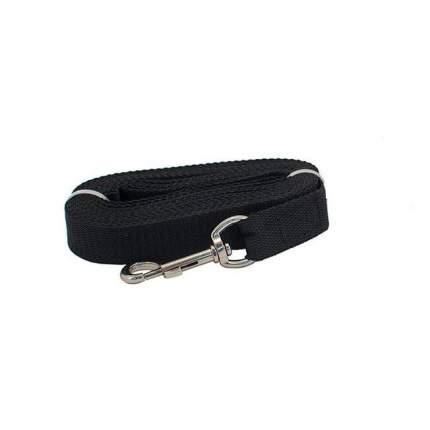 Поводок для собак Дарэлл Чип, капроновый, черный, 25мм х 3м