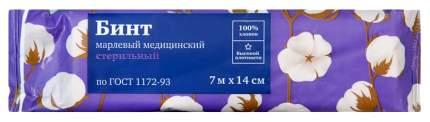 Бинт марлевый PL стерильный ГОСТ 7 м х 14 см 1 шт.