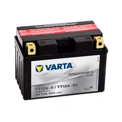 Аккумуляторная батарея Рус 11ah 160a 150/88/105 Yt12a-Bs Moto Varta 511901014
