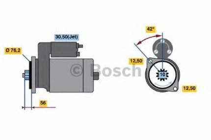 Стартер Bosch 0986018040