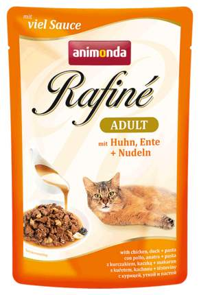 Влажный корм для кошек Animonda Rafine Adult, курица, утка, 24шт, 100г