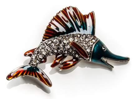 Брошь Moon Paris рыба со стразами (синий)