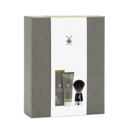 Подарочный набор Muehle крем для бритья Алоэ Вера+черный памазок Rytmo